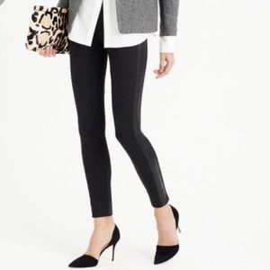 J.CREW Pixie Pant with Leather Tuxedo Stripe